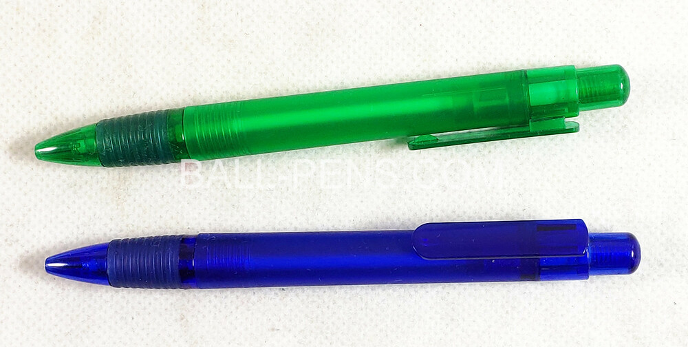 Frosted Barrel Translucent Plastic Ballpoint Pens with Custom Logo