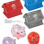 coin banks, piggy banks, coin containers, promotional coin banks, Prom