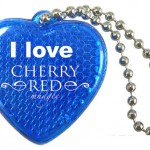 Promotional Reflective Heart Key Chains