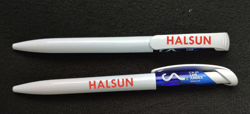 CAJA LOS ANDES SOMOS CChC Logo Plastic Ballpoint Pens